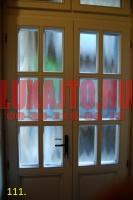 Kétszárnyú, csincsilla mintás bejárati ajtó Budapest 5. kerület
