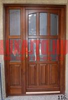 6 üveghelyes kétszárnyú bejárati ajtó Budapest 9. kerület