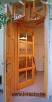 Paraszt ajtó dupla felső ablakkal