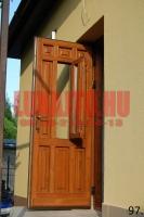 Családi ház üvegs bejárati ajtó Budapest